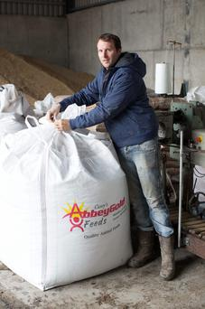 David Casey in his feed mill at Abbeyleix. Photo: Alf Harvey/HRPhoto.ie