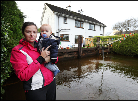 Fiona Greaney with her 11-month-old son Tommy at their home at Station Road in Ballinasloe
