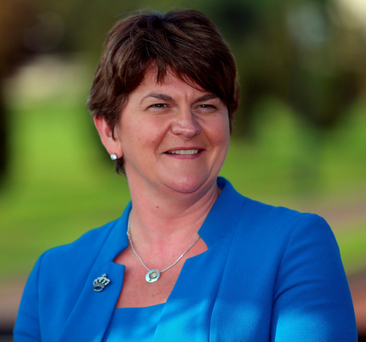 Arlene Foster has been formally elected as leader of the Democratic Unionist Party. Photo: PA