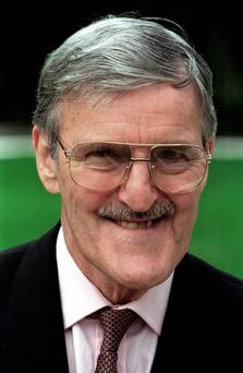 The late Jimmy Hill. Photo: AP