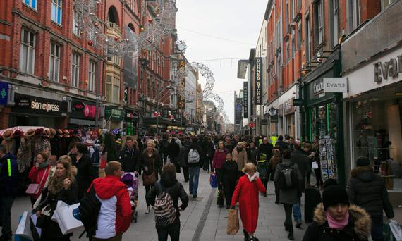 A busy Henry Street in the capital. Photo: Gareth Chaney