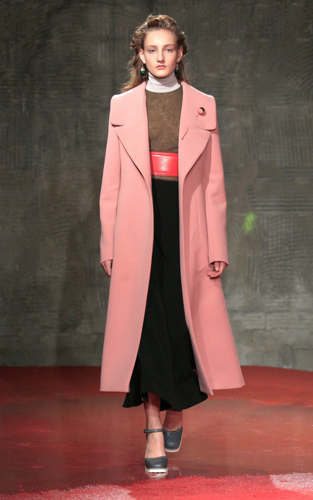 Marni coral double felt coat – €1,290 down to €450 – Brown Thomas