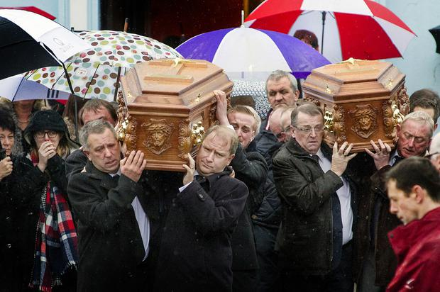 SAD: The funeral of Louise Clancy and her mother Geraldine at St Martin's Church, Kilworth