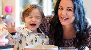Television chef Louise Lennox, pictured with son Alex Photo: Fergal Phillips