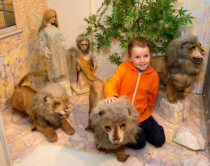 Visiting the Moving Crib at St Martin's Apostolate in Parnell Square, Dublin. Photo: Michael Chester