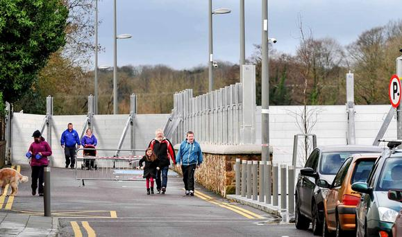 INVESTMENT: The flood defence barriers keeping the waters at bay in the town of Fermoy, Co Cork. Photo: Provision
