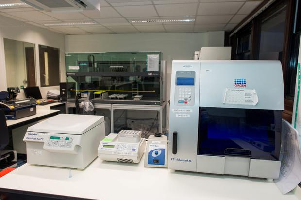 A machine at Garda HQ for extracting DNA