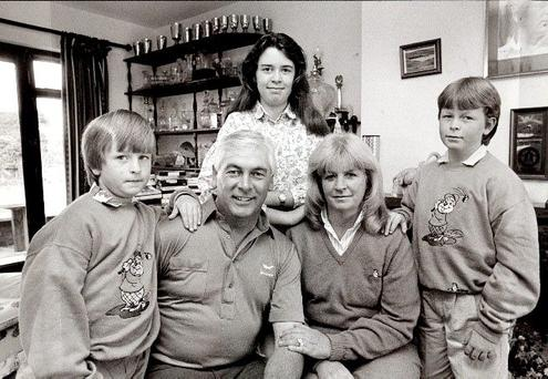 Christy O'Connor Jnr with wife Ann and family