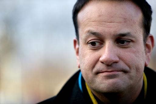 Health Minister Leo Varadkar speaking to the media at St James Hospital earlier this week. Photo: Gerry Mooney