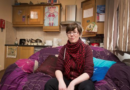 In limbo: Laura Duggan at her Celbridge home. Photo: Colin O'Riordan