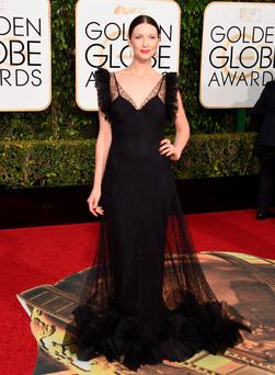Monaghan actress Caitriona Balfe arrives at Golden Globes last night Photo: AFP/Getty Images
