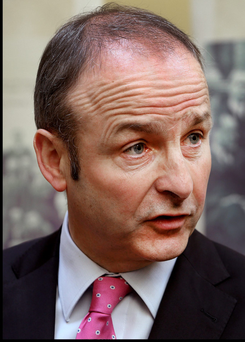 Micheál Martin took aim at Sinn Fein today, describing them as a