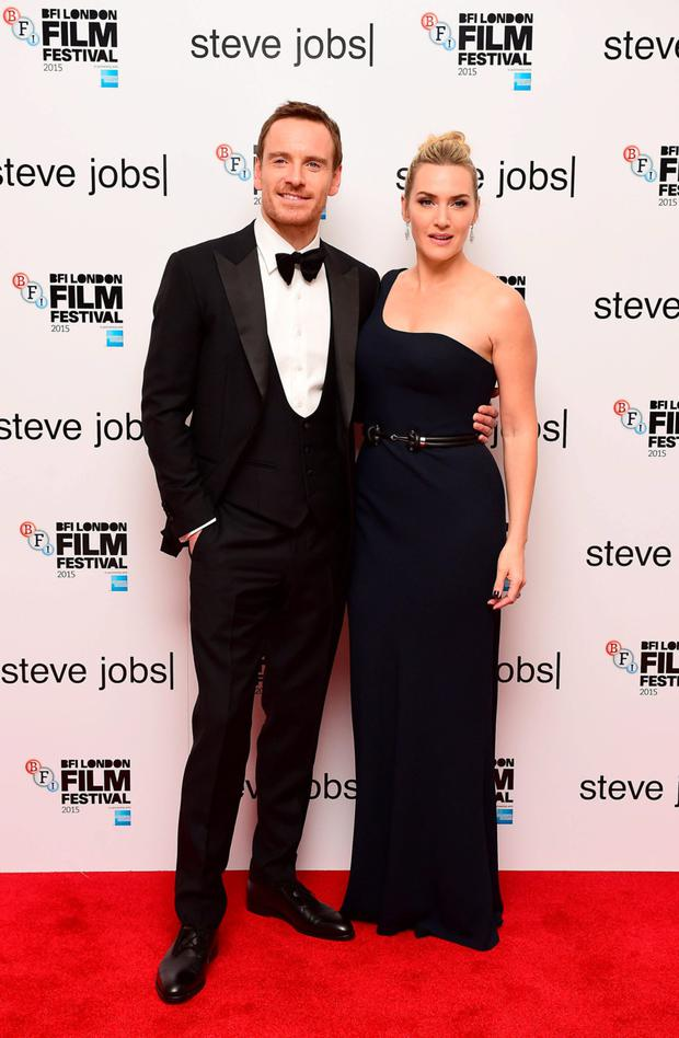 Steve Jobs' stars Michael Fassbender and Kate Winslet. Photo: PA
