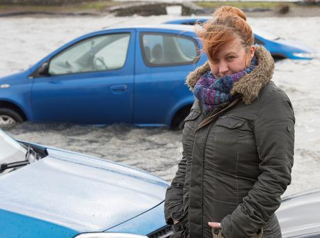 Aisling Daly whose car was destroyed in the flooding. Photo: Andrew Downes