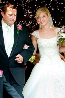 Jason Corbett on his wedding day with Molly Martens