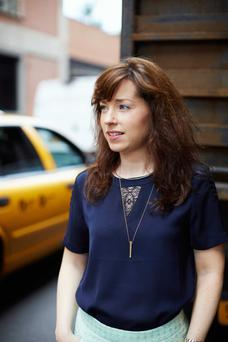 BIG PLANS: Molly Muldoon in New York city where she moved after graduating from Dublin City University