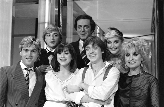 Terry Wogan with Britain's entry into the Eurovision Song Contest Bardo in 1982. Photo: PA