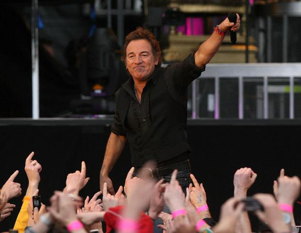 Bruce Springsteen in a sell-out gig at the RDS in Dublin eight years ago. He will play Croke Park in May. Photo: PA wire