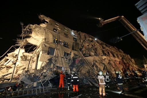 Taiwan earthquake Photo: Reuters