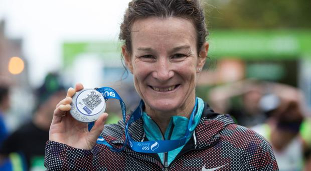 Sonia O'Sullivan after taking part in the 2015 SSE Airtricity Dublin Marathon (Fergal Phillips)