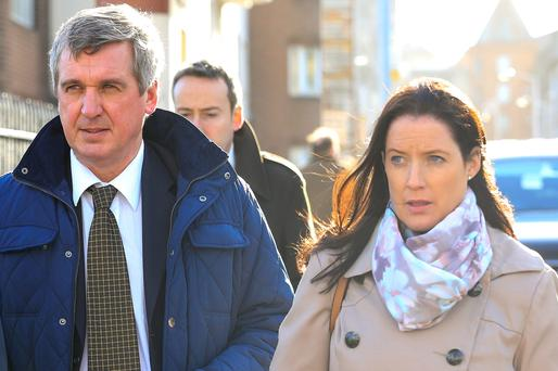 Garda John Leahy and Garda Orla Keenan during the hearing.