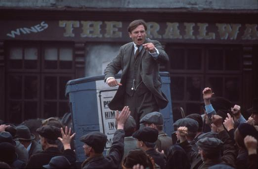 Liam Neeson as Michael Collins in the Neil Jordan movie