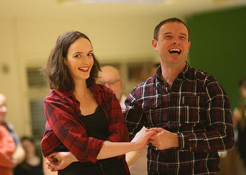 Give us a twirl: Rachel Lavin has fun at a jive dance class taught by country dance instructor Niall Doorhy in Roscommon town. Photo: Brian Farrell