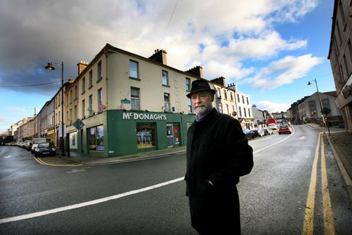 ROAD TO LEINSTER HOUSE: Liam Collins pictured on Bridge Street, Boyle, Co Roscommon.
