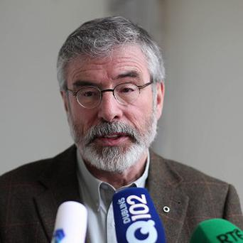 The Fianna Fail leader, Micheal Martin, in a powerful intervention, challenged the audacity of the Sinn Fein leader, Gerry Adams to present himself as a civil libertarian by his insistence that the Offences Against the State Act be repealed and the Special Criminal Court be abolished. Photo: PA