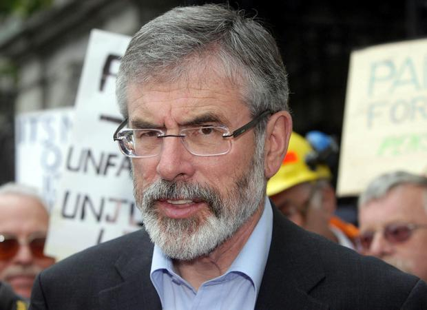 Gerry Adams. Photo: Niall Carson/PA Wire