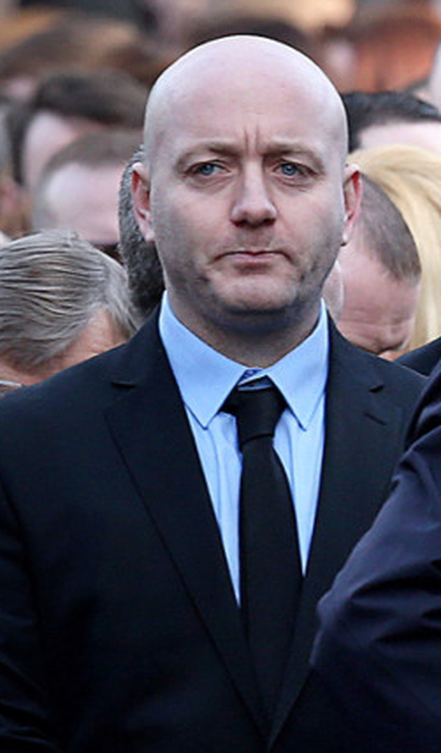 'Fat' Freddy Thompson at the funeral of David Byrne