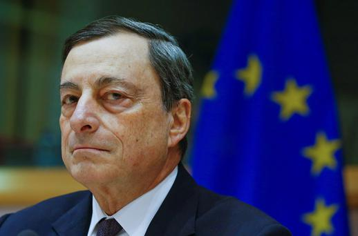 Euro worries: ECB boss Mario Draghi. Reuters
