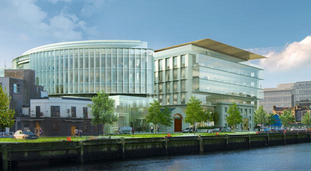A graphic artist's impression of the planned development in the Cork docklands.