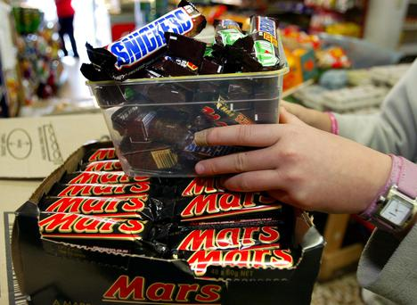 Danger: Mars products. Photo: Reuters