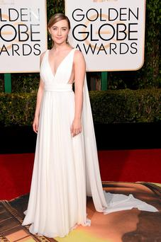 Saoirse Ronan in Grecian elegance at the Golden Globes 2016