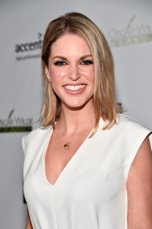Actress Amy Huberman attends the Oscar Wilde Awards at Bad Robot in California. Photo: Getty