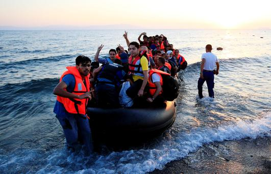 And still they come: Refugees continue to pour onto Greek islands Photo: Jonathan Brady/PA Wire