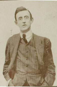 Portrait photograph of Joseph Plunkett