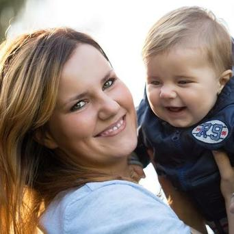Anna Rozycka and her son, Karol, who was smothered