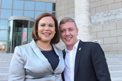 Mary Lou McDonald with Jonathan Dowdall