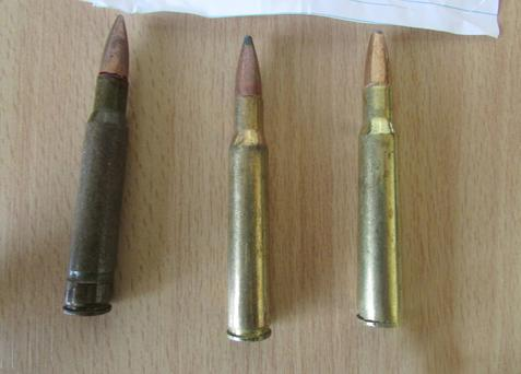 The bullets, which resemble those used in an AK 47