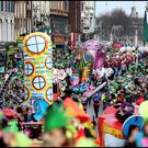 The parade in Dublin. Photo: Steve Humphreys