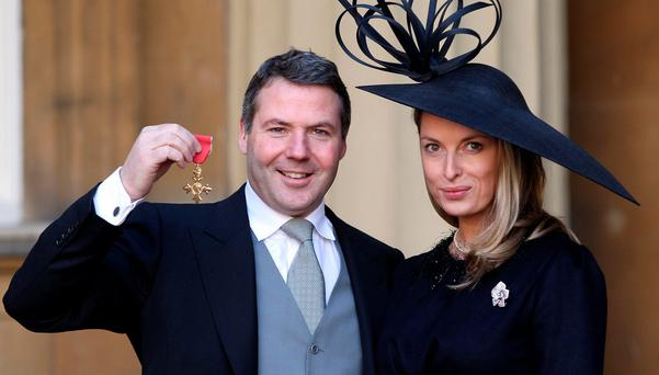 HAPPIER TIMES: Asos boss Nick Robertson and ex-wife Janine before he left her to move in with his PA. Photo: PA