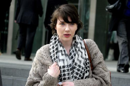 Niamh Ní Dhomhnaill outside court. Photo: Courtpix