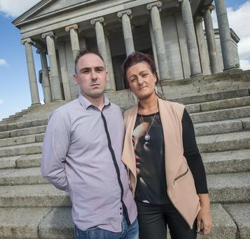 Chris and Roseann Brennan outside Carlow Courthouse. Photo: Pat Moore