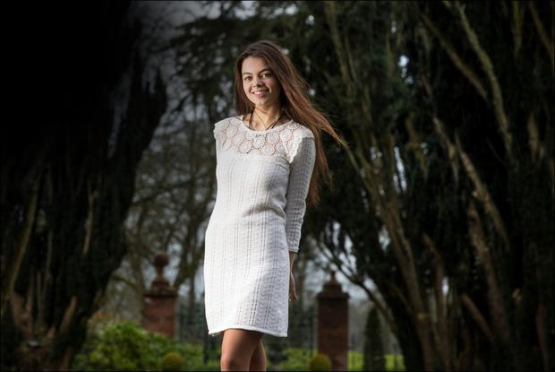 FLOURISHING TALENT: Sibeal Ni Chasaide from Co Meath pictured at Tankardstown House last week. Photo: David Conachy