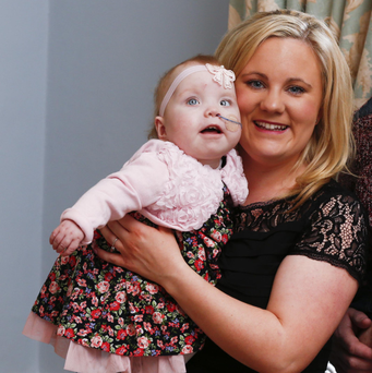 HEARTFELT THANKS: Elaine McMahon with her daughter Jessica, who is recovering well