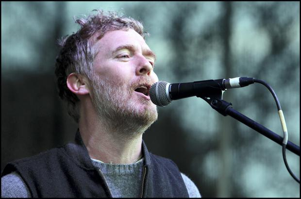 Glen Hansard has thanked the Irish public for getting behind Home Sweet Home and the Apollo House movement. Photo: Steve Humphreys