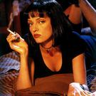Uma Thurman achieves the hot but cool look with the help of a cigarette in 'Pulp Fiction'.