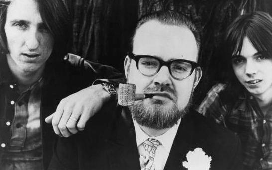 Boys in the band: Newman with his signature pipe